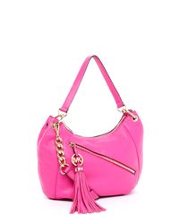 Michael Kors | Pink Charm-Tassel Convertible Shoulder Bag, Zinnia | Lyst