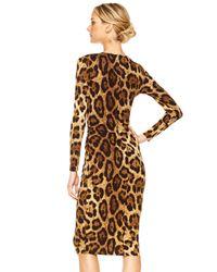 Michael Kors - Multicolor Twist-front Dress - Lyst