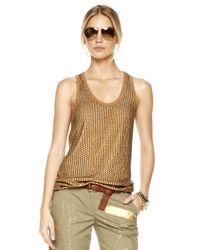 Michael Kors | Metallic Sequined Jersey Tank | Lyst