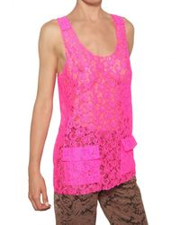 MSGM | Pink Lace Top | Lyst