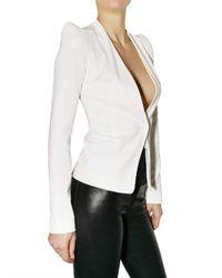 Mugler | White Viscose Jersey Jacket | Lyst