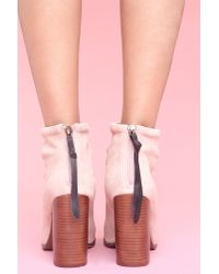 Nasty Gal | Pink Rumble Boot - Blush Suede | Lyst