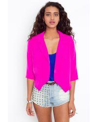 Nasty Gal | Pink Sharp Edges Blazer - Magenta | Lyst