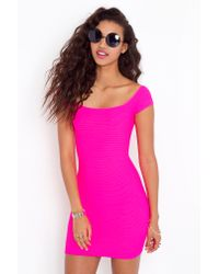 Nasty Gal | Pink Neon Lights Dress | Lyst