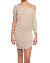 Parronchi | Natural Stretch Ribbed Knit Dress | Lyst