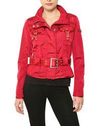 Peuterey | Red Montauk Short Trench Nylon Sport Jacket | Lyst