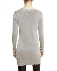 Philipp Plein | Gray Swarovski Chipmunks Cotton Knit Sweater | Lyst