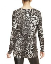 Philipp Plein - Multicolor Leopard Print Cotton Silk Knit Sweater - Lyst