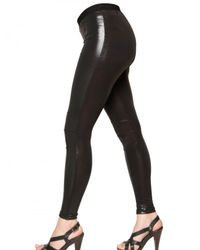 Balmain | Black Latex Leggings | Lyst