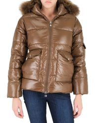 Pyrenex | Brown Murmansky Fur Hooded Down Jacket | Lyst