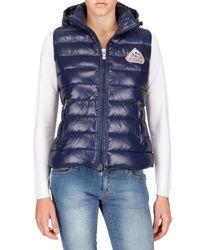 Pyrenex | Blue Laquer Nylon Sleeveless Down Jacket | Lyst