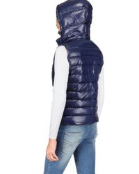 Pyrenex | Blue Laquer Nylon Sleeveless Down Jacket | Lyst