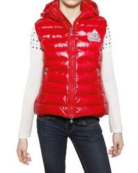 Pyrenex | Red Laque Nylon Sleeveless Down Jacket | Lyst