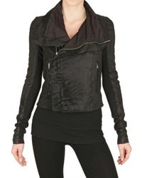 Rick Owens | Black Blistered Biker Nappa Leather Jacket | Lyst
