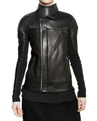 Rick Owens | Black Nappa & Tumbled Calfskin Leather Jacket | Lyst