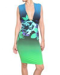 Roberto Cavalli | Multicolor Printed Lycra Dress | Lyst
