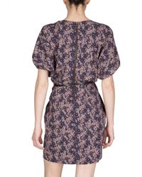 See By Chloé | Blue Printed Viscose Cady Dress | Lyst