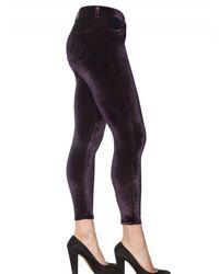 Siwy - Purple Velvet Stretch Trousers - Lyst