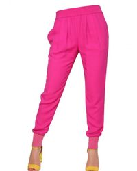 Stella McCartney - Pink Jogging Viscose Cady Trousers - Lyst