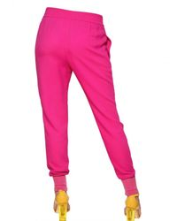 Stella McCartney | Pink Jogging Viscose Cady Trousers | Lyst