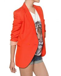 Stella McCartney - Orange Dry Slub Viscose Twill Jacket - Lyst