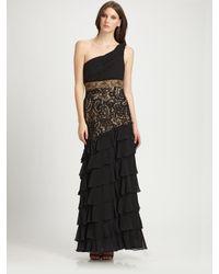 Sue Wong - Black One-shoulder Gown - Lyst