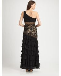 Sue Wong | Black One-shoulder Gown | Lyst