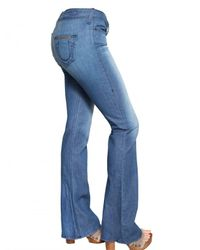 True Religion - Blue Stretch Denim Flared Leg Bobby Jeans - Lyst