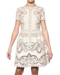 Valentino | White Cotton Guipure De Flandre Dress | Lyst