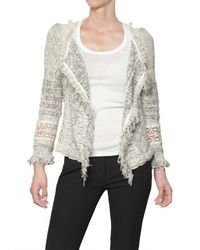 Vanessa Bruno | Gray Croche Tweed with Fringing Jacket | Lyst