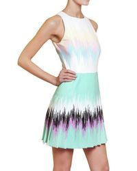 Versus | Multicolor Printed Pleated Cady Stretch Dress | Lyst