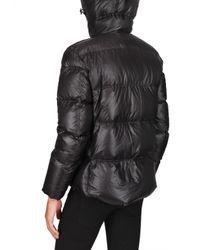 Add - Black Ultra Light Shiny Nylon Hooded Down Jack for Men - Lyst
