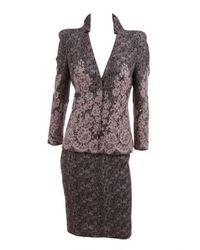 Alexander McQueen | Gray Lace Layover Jacket | Lyst