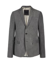 AllSaints - Gray Tuition Blazer for Men - Lyst
