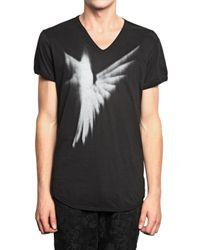 Ann Demeulemeester | Black Hummingbird Print Jersey T-shirt for Men | Lyst