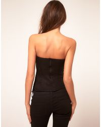 ASOS Collection - Black Corset with Eyelash Lace - Lyst