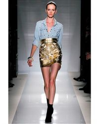 Balmain - Blue Cotton Denim Shirt - Lyst