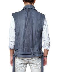 Balmain | Gray Python Vest for Men | Lyst