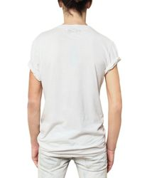 Balmain | White Distressed Cotton Jersey T-shirt for Men | Lyst