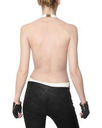 Balmain - White Lycra Bathing Suit - Lyst