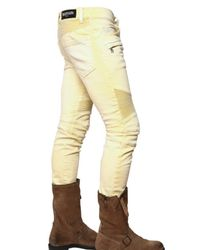 Balmain | Yellow 17cm Coloured Denim Biker Jeans for Men | Lyst