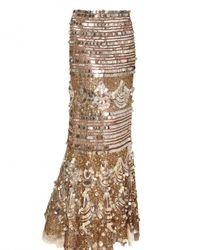 Blumarine | Metallic Sequin Silk Net Skirt | Lyst