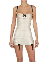 Bordelle | White Angela Spandex String Body Dress | Lyst