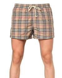 Burberry Brit | Natural Checked Cotton Shorts for Men | Lyst