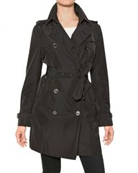 Burberry Brit | Black Buckingham Nylon Trench Coat | Lyst