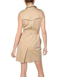 Burberry Brit | Natural Double Breasted Dress | Lyst