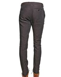Burberry Prorsum | Brown 17cm Chambray Linen Skinny Fit Trousers for Men | Lyst
