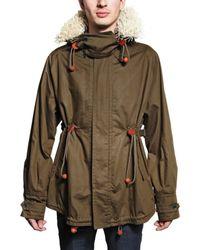 Burberry Prorsum | Green Raffiatrimmed Parka Coat for Men | Lyst