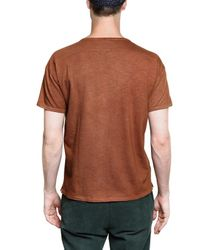 Burberry Prorsum | Brown Wood Triangles On Dyed Jersey T-shirt for Men | Lyst