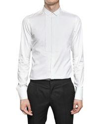 Burberry Prorsum | White Pleated Plastron Poplin Tuxedo Shirt for Men | Lyst